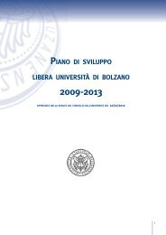 piano di sviluppo libera università di bolzano - Free University of ...