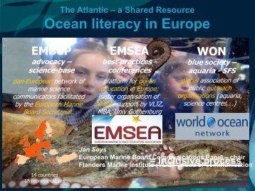 Europe: Dr Jan Seys - Marine Institute