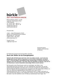 Auch der Keller ist ein Energiesparer - Betonwerk Bürkle GmbH ...