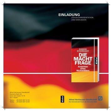 PDF/ 668 KB - Alfred Herrhausen Gesellschaft