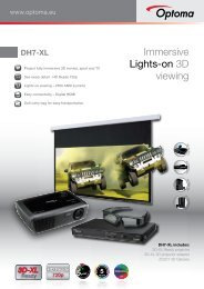 Immersive Lights-on 3D viewing - Optoma