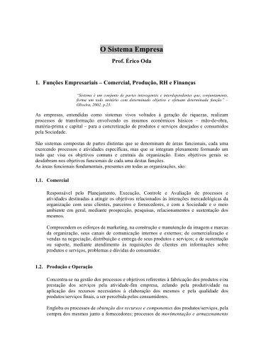 2 - O sistema Empresa - Prof Erico - IESDE - FESP
