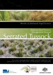 Serrated tussock - National best practice manual - Weeds Australia