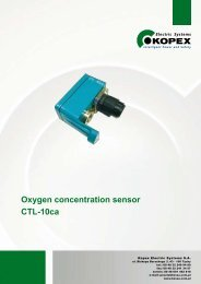 Oxygen concentration sensor CTL-10ca - Kopex Electric Systems