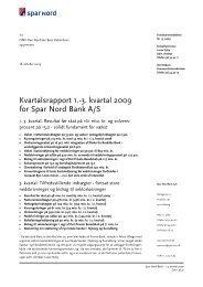 Fondsbørsmeddelelse - Spar Nord
