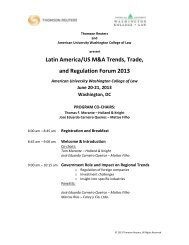 Latin America/US M&A Trends, Trade, and Regulation Forum 2013