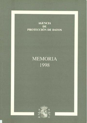 1998 - Agencia Española de Protección de Datos