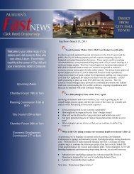March 15, 2013 - City of Auburn