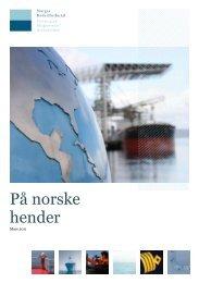 PÃ¥ norske hender - hovedrapport - Norges Rederiforbund