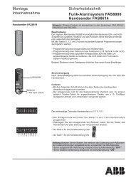 Montage Inbetriebnahme Sicherheitstechnik Funk-Alarmsystem ...