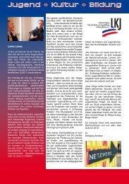 Liebe Leser, Newsletter 03/2011 - LKJ SH eV
