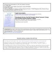 Risk Perception Attitude Framework - Johns Hopkins Center for ...