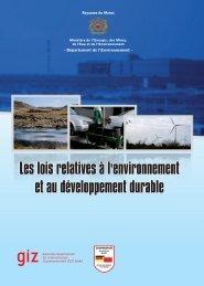 Les lois relatives à l'environnement et au développement durable
