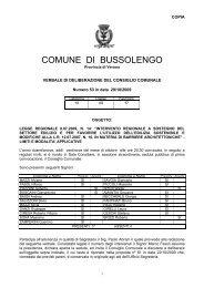 COMUNE DI BUSSOLENGO