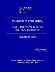 REESTRUTURAÇÃO do SETOR ELÉTRICO ... - Nuca - UFRJ