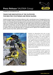 the new pro footwear line from SALEWA (PDF)