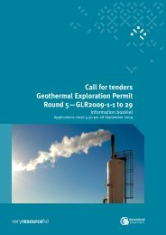 The complete Call for tenders Geothermal Exploration Permit Round ...