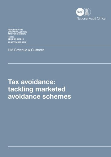 Tax avoidance: tackling marketed avoidance schemes - Taxation