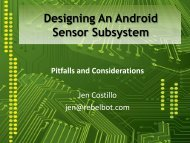 Designing An Android Sensor Subsystem - The Linux Foundation