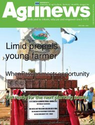 Limid propels young farmer - Ministry of Agriculture