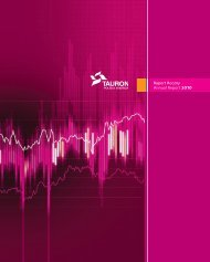 Raport Roczny Annual Report 2010 - Tauron