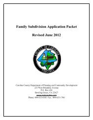 Family Subdivision Application Packet Revised ... - Caroline County!