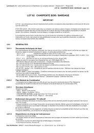 LOT 02 CHARPENTE BOIS / BARDAGE - Commune de Lanrivoaré