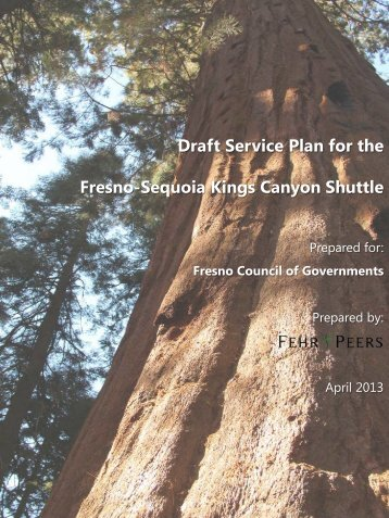 Draft Service Plan - Council of Fresno County Governments