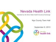 September 9, 2013 - Nye County Town Hall - Silver State Health ...