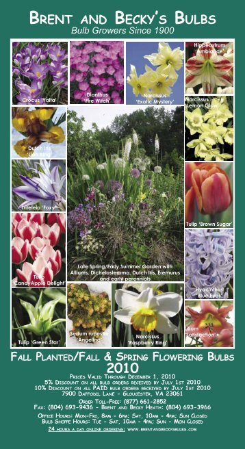 Front Cover 2010 - Brent and Becky's Bulbs!