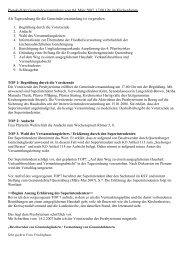 Protokoll der Gemeindeversammlung vom 04. März 2007, 17.00 Uhr ...