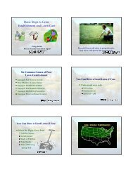 Basic Steps to Grass Establishment and Lawn Care - The Dakota ...