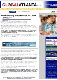 Atlanta Attorney Publishes H-1B Visa Book - Siskind, Susser