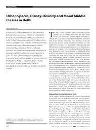 Urban spaces, Disney-Divinity and Moral Middle classes in Delhi