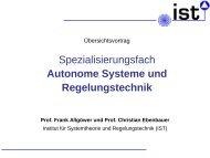 Spezialisierungsfach Autonome Systeme und Regelungstechnik
