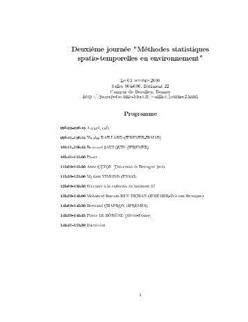 Programme et résumés - Université de Bretagne Occidentale