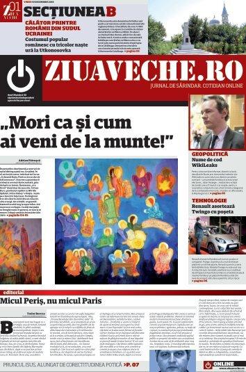 """""""Mori ca şi cum ai veni de la munte!"""" - Ziua Veche"""