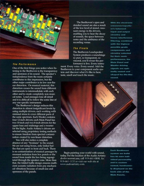 Brochure - Audio Artistry