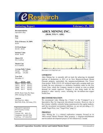 Initiating Report - eResearch