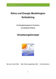 Umsetzungskonzept - Klima- und Energie-Modellregionen