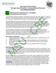 Film Director's Statement & Discussion Guide - International Studies ...