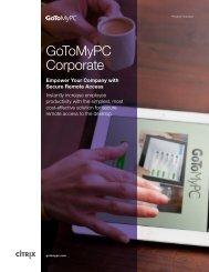 GoToMyPC Corporate Product Overview - Citrix Online