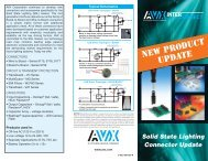 AVX Solid State Lighting Connector Brochure - Digikey