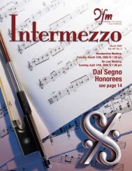 Dal Segno Honorees Dal Segno Honorees - Chicago Federation of ...