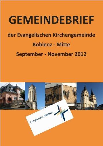 November 2012 - Evangelische Kirchengemeinde Koblenz-Mitte