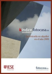 La vivienda en alquiler en el año 2009 - Fotocasa