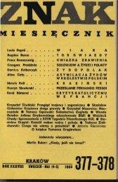 Nr 377-378, kwiecień-maj 1986 - Znak