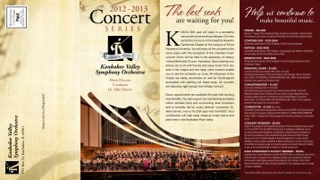 The best seats - Kankakee Valley Symphony Orchestra