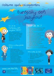 Why do we celebrate the EDL? - European Day of Languages