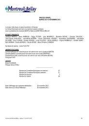 procès verbal du 16 novembre 2012 - Montreuil-Bellay